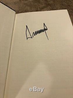 Donald Trump Think Big Kick Ass Livre Autographié Signé En Personne