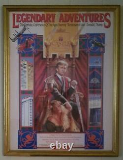 Donald Trump Très Rare Autographed 1993 Trump Castle Birthday Party Invitation