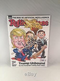 Donald Trump Trump Signé Le Magazine Rolling Pierre Unbound Psa Dna