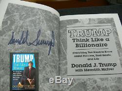 Donald Trump USA Orig. Buch Livre Signé Autographe Signiert Signatur Autogramm