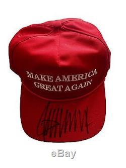 Donald Trump (make America Great Again) Chapeau Officiel Signé Jsa