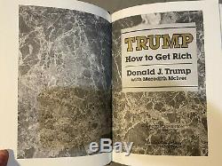 Easton Press Comment Get Rich Par Le Président Donald Trump Signe Avec Coa