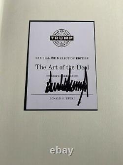 Édition Électorale, Livre Signé Et Certifié Président Des États-unis Donald Trump Art Of Deal
