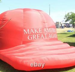 Énorme 8 Pieds Donald Trump Gonflable Maga Red Hat Balloon Signe Jumbo