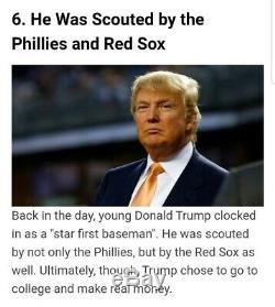 Impressionnant Magnifiquement Autographié / Signé Pres. Donald J. Trump Baseball Officiel