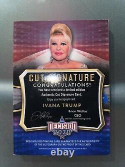 Ivana Trump Décision 2020 Série 2 Autographe Signature Rare Maga Trading Card