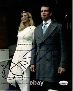Ivanka Trump & Donald Trump Jr Combo Signé Inaguration 8x10 J. S. Un Authentifié