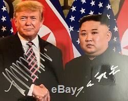 Kim Jong-un Et Président Atout Duel Signés Donald Photographie 2018