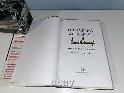L'amérique Que Nous Méritons Par Le Président Donald J. Trump Rare Autographié