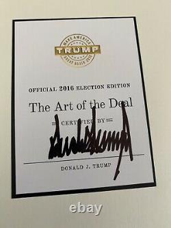L'art De L'accord Signé Par Le Président Donald Trump 2016 Élection Édition