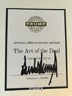 L'art Du Deal 1987, Signé Par Atout 2016 Election Donald Édition