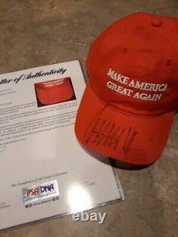 Le Président Américain Donald Trump A Signé Auto Maga Hat Cap-rare Deux Cert-psa/adn & Jsa