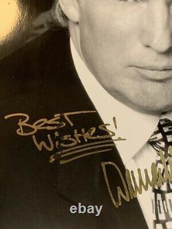 Le Président Américain Donald Trump A Signé La Pleine Signature Autographiée Photo B/w Photo