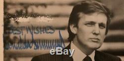 Le Président Donald J Trump A Signé Une Photo 8x10 Avec Une Enveloppe Org 5 Août 1993 Rare