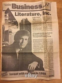 Le Président Donald J Trump Rare Autograph Autographié Art Book De Deal Signé Livre