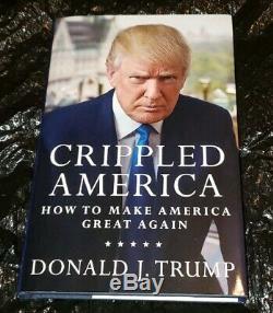 Le Président Donald J Trump Signé 6201/10 000 Crippled Amérique Du Livre Premiere Coa