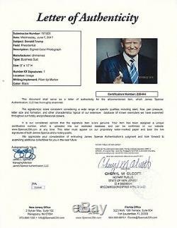 Le Président Donald J. Trump Signé 8x10 Photo Jsa Autograph Auto