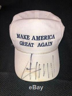 Le Président Donald J. Trump Signé Make America Great Encore Une Fois Chapeau Maga Autographié