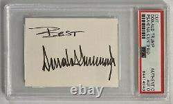 Le Président Donald Trump A Signé Autograph 2x2.75 Couper Signature Psa Adn Free S&h