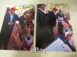 Le Président Donald Trump A Signé Autograph Auto Everlast Gant De Boxe Proof Signe
