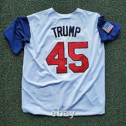 Le Président Donald Trump A Signé Autographié #45 Maillot De Baseball À Vie Coa XL