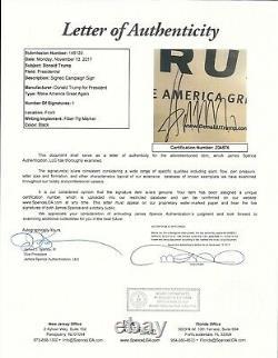 Le Président Donald Trump A Signé Encadré Signe De Campagne Autographe Maga Kag Jsa Coa