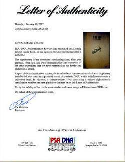 Le Président Donald Trump A Signé L'art Du Retour Lettre Psa/dna Autographié