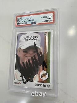 Le Président Donald Trump A Signé La Carte Rookie, Certifié Psa/dna, Slabbed, Rare