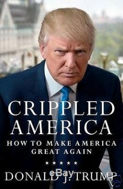 Le Président Donald Trump A Signé Le Livre Crippled America # / 10,000 Auth W Coa