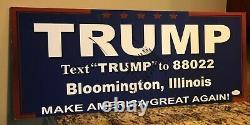 Le Président Donald Trump A Signé Le Podium Du Rassemblement De Campagne Utilisé Signe 2016 Auto Jsa Coa