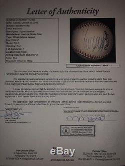 Le Président Donald Trump A Signé Onl Baseball Jsa Loa Vintage Auto A794