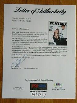 Le Président Donald Trump A Signé Playboy Mars 1990 Magazine Psa Lettre Ai00100
