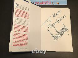 Le Président Donald Trump A Signé Un Livre Avec Autographe Pour Matt Best Wishes Auto