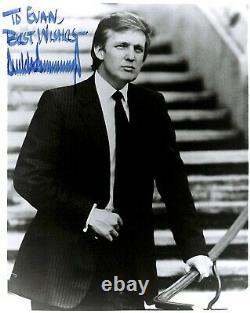 Le Président Donald Trump A Signé Vintage 1980 Photo Rare Full Autograph Dna Psa