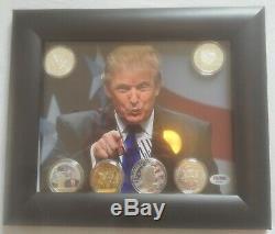 Le Président Donald Trump, Autographe Signé, Photo 8x10 Psa / Dna # Ab25449