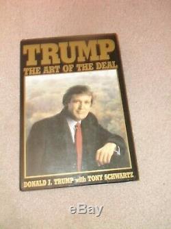 Le Président Donald Trump Autographié The Art Of The Deal Signé Signature Pleine