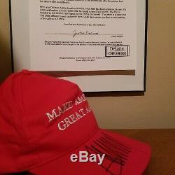 Le Président Donald Trump Et Ivanka Trump Autographié Maga Hat Authentique