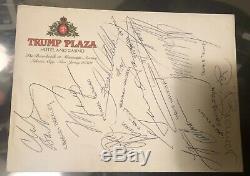 Le Président Donald Trump Et Michael Jordan + Plus Article Signé Jsa Coa Lettre
