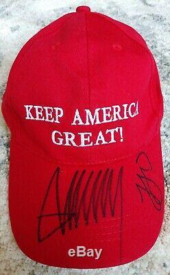 Le Président Donald Trump / Ivanka Trump Make America Great Encore Une Fois Chapeau Signé Coa