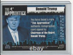Le Président Donald Trump La Carte De Trading D'apprenti Signé Dt2 Auto Certifié
