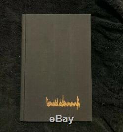 Le Président Donald Trump Livre Signée À La Main Autographié The Art Of The Deal