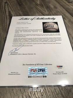 Le Président Donald Trump / Mike Pence Double Signé Autographed Baseball Psa / Adn Coa