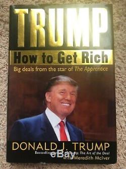 Le Président Donald Trump Signature Du Livre Autograph Maga 100% Réel Jsa Lettre Pleine Coa