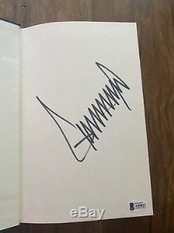 Le Président Donald Trump Signature Du Livre Comment Get Rich Beckett Coa Autograph