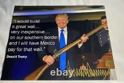 Le Président Donald Trump Signé 11x14 Magazine Photo De Couverture Pensez Grand 1/1 Or Auto