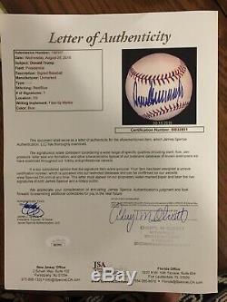 Le Président Donald Trump Signé Autographed Baseball Early Signature Jsa Spenccoa