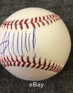 Le Président Donald Trump Signé Autographié Omlb Baseball Coa