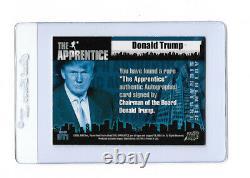 Le Président Donald Trump Signé Carte L'apprenti Dt1 Pack Pulled Cert Auto Rare