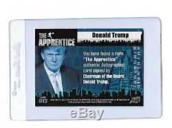 Le Président Donald Trump Signé Carte L'apprenti Dt2 Pack Pulled Cert Auto Rare