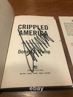 Le Président Donald Trump Signé Crippled America Book Autograph Maga Jsa Coa